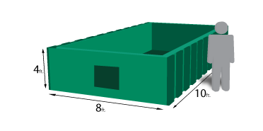 10 yard roll-off container