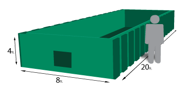 20 yard roll-off container
